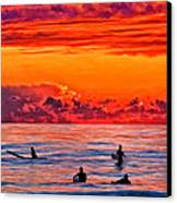Waiting For The Next Set Canvas Print by Michael Pickett