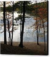 Walden Pond In Autumn Canvas Print by Sheila Savage