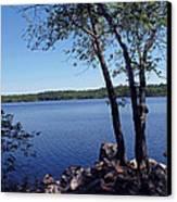 Walden Pond Saugus Ma Canvas Print by Barbara McDevitt