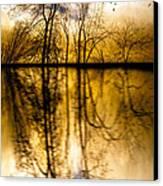 Walk Along The River Canvas Print by Bob Orsillo