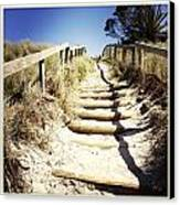 Walkway Canvas Print by Les Cunliffe
