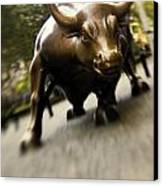 Wall Street Bull Canvas Print by Tony Cordoza