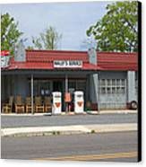 Wallys Service Station Mayberry Canvas Print by Bob Pardue