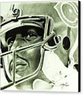 Walter Payton Canvas Print by Don Medina