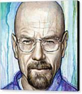 Walter White - Breaking Bad Canvas Print by Olga Shvartsur
