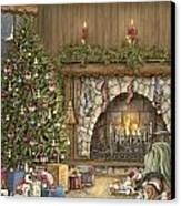 Warm Christmas Canvas Print by Beverly Levi-Parker