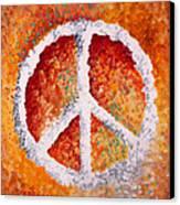 Warm Peace Canvas Print by Michelle Boudreaux
