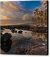 Warm Reflected Place Of Refuge Skies Canvas Print by Mike Reid