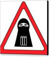 Warning Shahid Sign Canvas Print by Aleksey Tugolukov