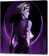 Warrior Goddess Of The Purple Moon Canvas Print by Renee Reeser Zelnick