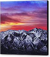 Wasatch Sunrise 2x1 Canvas Print by Chad Dutson