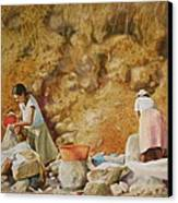 Washerwomen Canvas Print by Karol Wyckoff