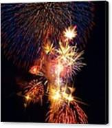 Washington Monument Fireworks 3 Canvas Print by Stuart Litoff