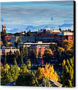 Washington State University In Autumn Canvas Print by David Patterson