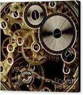 Watch Mechanism. Close-up Canvas Print by Bernard Jaubert