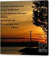 Watch The Sun Set Canvas Print by John Malone
