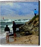 Watching The Storm Come In Canvas Print by Rosemarie E Seppala