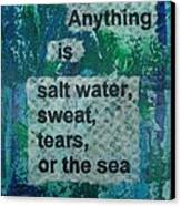 Water Cure - 1 Canvas Print by Gillian Pearce