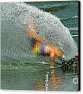 Water Skiing 5 Magic Of Water Canvas Print by Bob Christopher