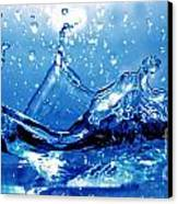 Water Splash Canvas Print by Michal Bednarek