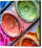 Watercolor Ovals One Canvas Print by Heidi Smith