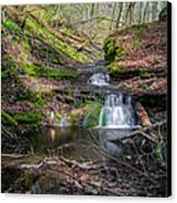 Waterfall At Parfrey's Glen Canvas Print by Jonah  Anderson