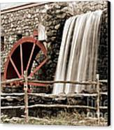 Waterfall At The Mill Canvas Print by Jayne Carney