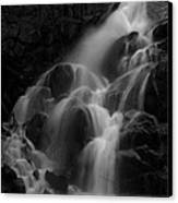 Waterfall In Black And White Canvas Print by Bill Gallagher