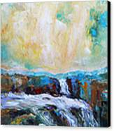 Waterfalls 2 Canvas Print by Becky Kim