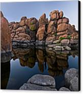 Watson Lake Arizona Reflections Canvas Print by Dave Dilli