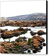Watson Lake Canvas Print by Greg Thiemeyer
