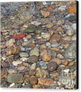 Wave Over Beautiful Rocks Canvas Print by Carol Groenen