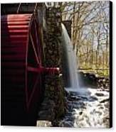 Wayside Grist Mill 2 Canvas Print by Dennis Coates