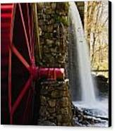 Wayside Grist Mill Canvas Print by Dennis Coates