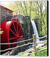 Wayside Inn Grist Mill Canvas Print by Barbara McDevitt