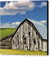 Weathered Barn Palouse Canvas Print by Carol Leigh