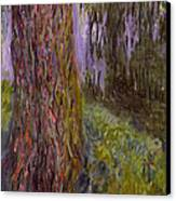 Weeping Willow And The Waterlily Pond Canvas Print by Claude Monet