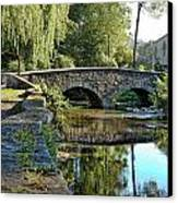 Weeping Willow Bridge Canvas Print by Robert Culver