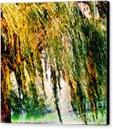 Weeping Willow Tree Painterly Monet Impressionist Dreams Canvas Print by Carol F Austin