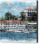 Wentworth By The Sea Canvas Print by Marcia Lee Jones