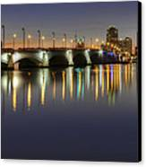 West Palm Beach At Night Canvas Print by Debra and Dave Vanderlaan