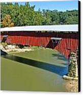 West Union Covered Bridge 2 Canvas Print by Marty Koch