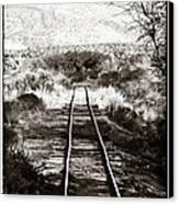 Western Tracks Canvas Print by John Rizzuto