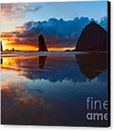 Wet Paint - Sunset In Oregon Canvas Print by Jamie Pham