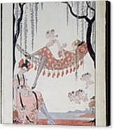 What Do Young Women Dream Of? Canvas Print by Georges Barbier