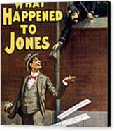 What Happened To Jones Canvas Print by Aged Pixel