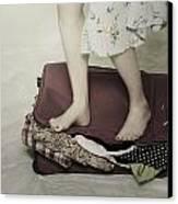 When A Woman Travels Canvas Print by Joana Kruse