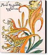 When Lilies Turned To Tiger Blaze Canvas Print by Walter Crane