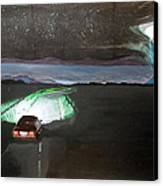 When The Night Start To Walk Listen With Music Of The Description Box Canvas Print by Lazaro Hurtado