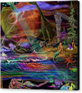 Where The Mermaids Meet Canvas Print by Frances McCloskey